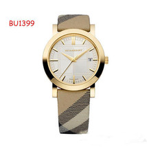 Burberry Swiss Quartz Nova Check Goldtone Case Women's Watch BU1399 - $257.13