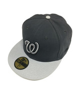 7 5/8 Size New Era Washington Nationals Cap Graphite/Gray 59FIFTY Fitted... - $23.99