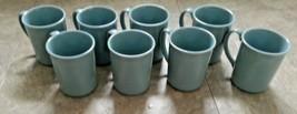 Corning Mugs Cups Set 8 Light Blue 10 oz kitchen heart Dishwasher Microwave Safe - $39.99