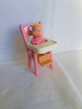 VTG Fisher Price Loving Family Dollhouse Parts Baby & High Chair 1993 - $11.92
