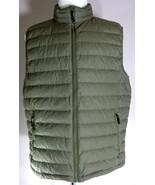 32 Degrees Heat Weatherproof Down Vest Mens Size Large Green Zip Up - $39.55