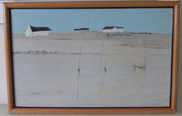 """Jean Porcher French Artist 1954 """"ANETZ"""" Oil on Canvas Painting 26"""" X 16"""" - $299.00"""
