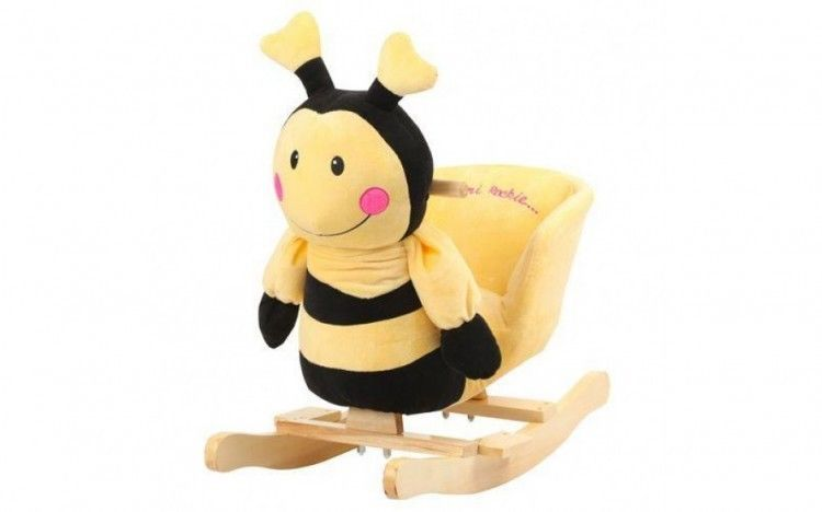 Primary image for Baby Rocking Chair Animal Bee Infant Relaxing Toy Chair Kids Rocking Bee Yellow