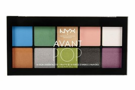 NYX Avant Pop 10 Color Eyeshadow Palette-APSP01-Art Throb - $12.13
