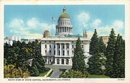 DB Postcard CA K213 South View of State Capitol Sacramento Unposted Curt Teich - $4.90