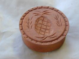 Vtg Wooden Butter Cookie Mold  Pineapple - $36.00