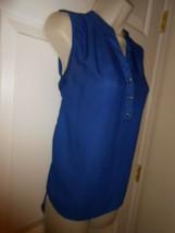 ✨ Cute royal Blue Sheer teenbell size L hi/low Top Blouse NWOT - $8.42