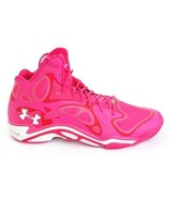 Under Armour Pink UA Micro G Anatomix Spawn Basketball Shoes Men's 15 NEW - $148.49