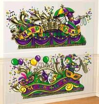 Mardi Gras Parade Float Scene Setter Wall Decoration Kit - $9.99