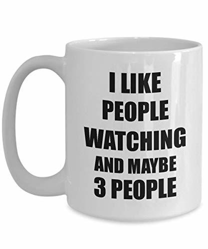Primary image for People Watching Mug Lover I Like Funny Gift Idea for Hobby Addict Novelty Pun Co