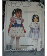 McCall's 3345 Toddler Girls Dress Pattern - Size 1/2/3 Chest 20-22 Wst 1... - $10.88