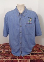 GEICO Gecko Insurance Region 1 Blue Denim Shirt Men's Size XL Certified ... - $24.18