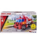 Meccano Junior - Rescue Fire Truck with Lights and Sounds Model Building... - $34.64