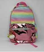 "More Than Magic 17"" Backpack Pastel Glitter Pink Ombre Girls Unicorn Bag... - $19.77"