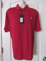 Adidas Performance Short Sleeve Textured Red Polo Men's Sz L-2XL NWT MSRP$45 - $22.05