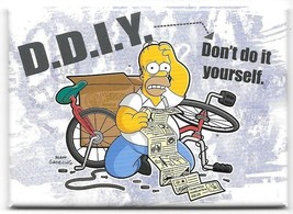 The Simpsons Homer D.D.I.Y. Don't Do It Yourself Refrigerator Magnet NEW... - $3.99