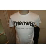 Vtg THRASHER Skateboard Magazine San Francisco White Cotton T-shirt Adul... - $29.69