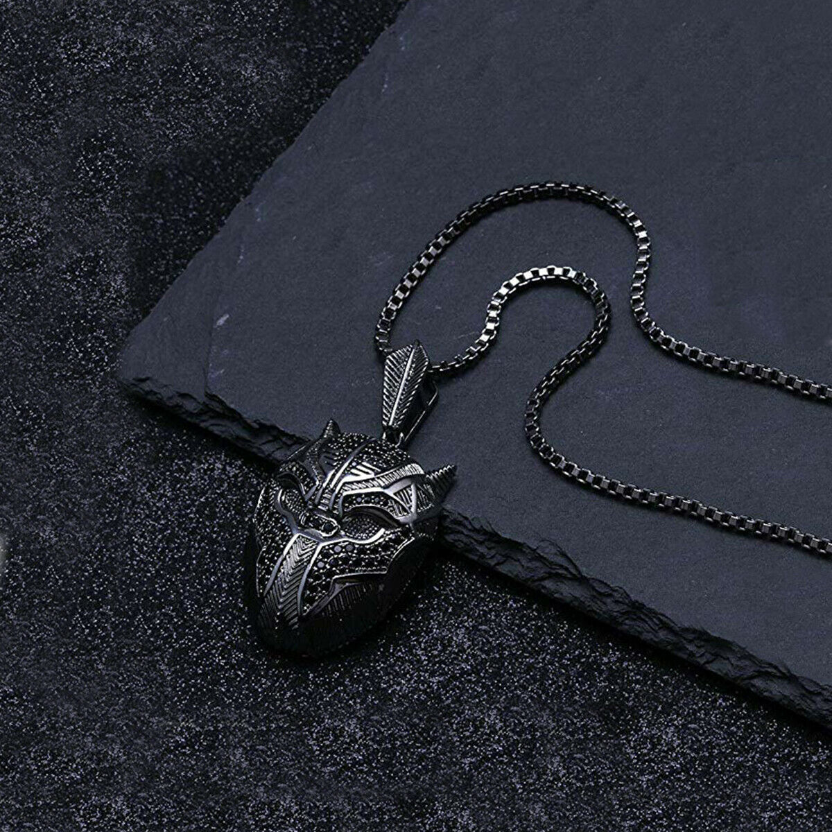 Punk HIP HOP Fashion Mens Skull Head Chain Pendant Necklace Halloween Gift image 4
