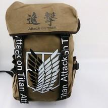 Attack on Titan Eren Scouting Legion Logo Big Backpack Schoolbag gifts - $35.96