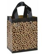 Frosted Plastic Leopard Print Shopping Bags - Medium (100 Bags/Case) - S... - $48.02