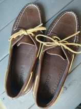 Sperry Top-Sider Brown Leather Boat Shoes Womens Size 11M  - $24.74