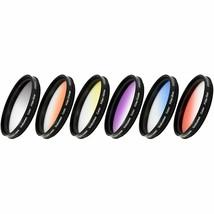 Vivitar 6-Piece Multi-Coated Rotating Graduated Color Filter Set (58mm) ... - $43.99