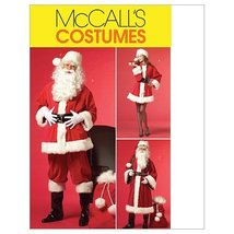 McCall's Patterns M5550 Misses'/Men's Santa Costumes and Bag, Size XN (XLG-XXL-X - $14.21
