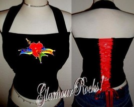 Tom Petty Band Concert Rhinestone Crystal Halter Corset - $28.99