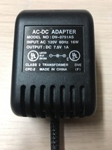 AC Power Supply Adapter Adaptor Charger Cord DV-0751AS / 7.5V 1A           F5