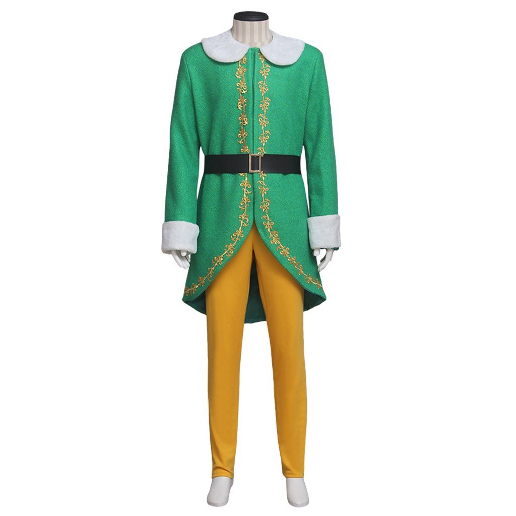 Elf Green Cosplay Costume Men Prince Halloween Carnival Party Outfit Custom Made