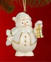 Lenox Snowman W/ Lantern Christmas Tree Ornament - $43.00