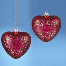 "Kurt Adler 4.25"" Glass Sex and the City ""Hello Lover"" Heart Christmas Ornament - $14.59"