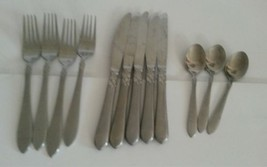 Oneida Simba Stainless Satin Flatware 12 Piece Mixed Lot Dinner Forks Kn... - $26.48
