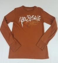 Aeropostale Men's Rusty Brown Orange Long Sleeve Tshirt Shirt Size XS - $9.49