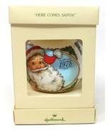 1978 Hallmark Santa Satin Ball Christmas Ornament in Box Here Comes Santa - £8.94 GBP