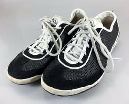 Diesel Womens 8.5 US Black White Gym Shoes Sneakers E Motion W 39 EU JPN 25.5 - $37.73