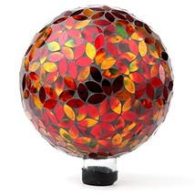 Lily's Home Colorful Mosaic Glass Gazing Ball, Designed with a Stunning ... - $50.05