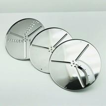 SUNBEAM 14031 Heavy Duty Food Processor Slice Shred Blade Disc Lot Of 3 - $21.99
