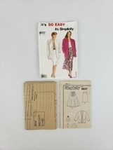 Simplicity 9837 Misses Pleated Skirt Slim Skirt & Unlined Jacket Size 10... - $5.27