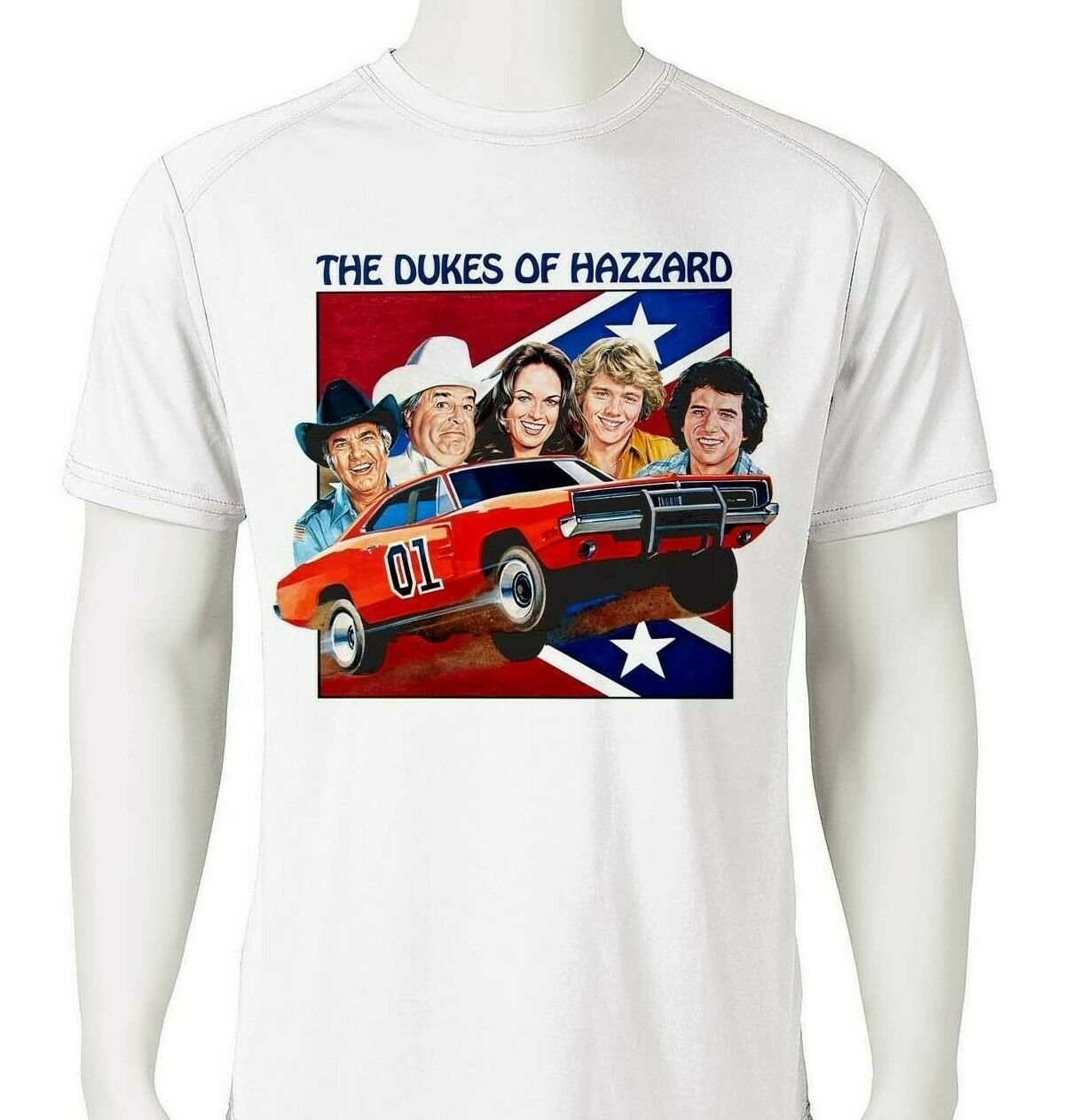 Dukes Hazzard Dri Fit graphic T-shirt moisture wicking retro 80s tv show Sun Shi