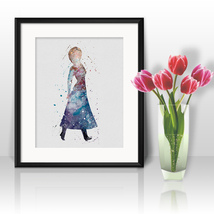 Anna Frozen Disney Printable Art Prints Poster watercolor Painting Wall Art - $3.50