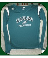 Philadelphia Eagles NFL Team Apparel Women's V-Neck Green Shirt-Small - $24.70