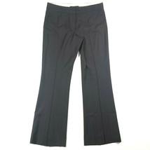 Elie Tahari Womens 8 Wool Blend Pinstripe Flared Bootcut Gray Pants Work... - $23.38