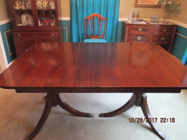 Mahogany Dining Room Table, China, Buffet U0026 Sideboard Duncan Phyfe Style.  Prob
