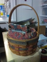 Longaberger 1997 small Inaugural Basket with Liner and Protector plus Ti... - $13.75
