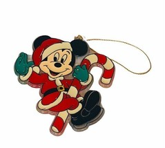 Mickey Mouse Christmas ornament holiday vtg resin candy cane Disney souv... - $16.40