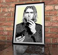 Kurt Cobain - Nirvana - Painting poster Print - $11.99 - $49.99
