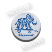 French Country Elephant Needle Nanny cross stitch JBW Designs   - $12.00