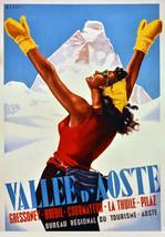 "20x30""Decor Poster.Home Room Interior design.Travel Italy.Ski Aosta Vall... - $23.38"