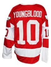 Custom Name # Youngblood Movie Hamilton Mustangs Hockey Jersey New Red Any Size image 2